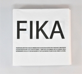Fika napkins, white with swedish text