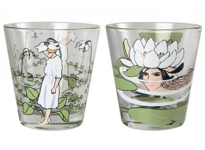 Elsa Beskow glas Pyrola & Water Lily, 2 pack