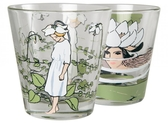 Elsa Beskow drinking glass Pyrola & Water Lily, 2 pcs