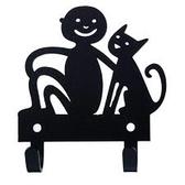 Bengt & Lotta - hängare - Pojke med katt, svart