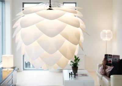 VITA, Silvia lampa (kotten), 34 cm vit