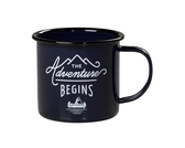 Enamel mug The Adventure, blue