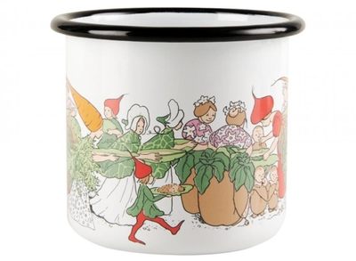Elsa Beskow Vegetable emaljmugg 3,7 dl