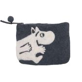 Mumin, grå börs i handfiltad ull, Klippan