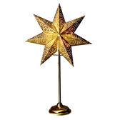 Antique star on base 34, gold