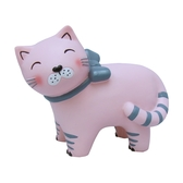Cat with Bow lamp - baby pink, Euro plug