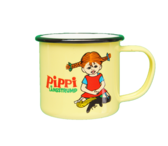 Pippi enamel mug, 2,5 dl - Pippi Longstocking (yellow)
